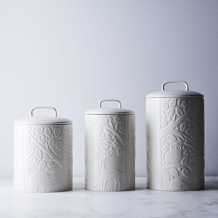 Stoneware Coffee, Sugar, Tea Canisters. |  $64, food52.com