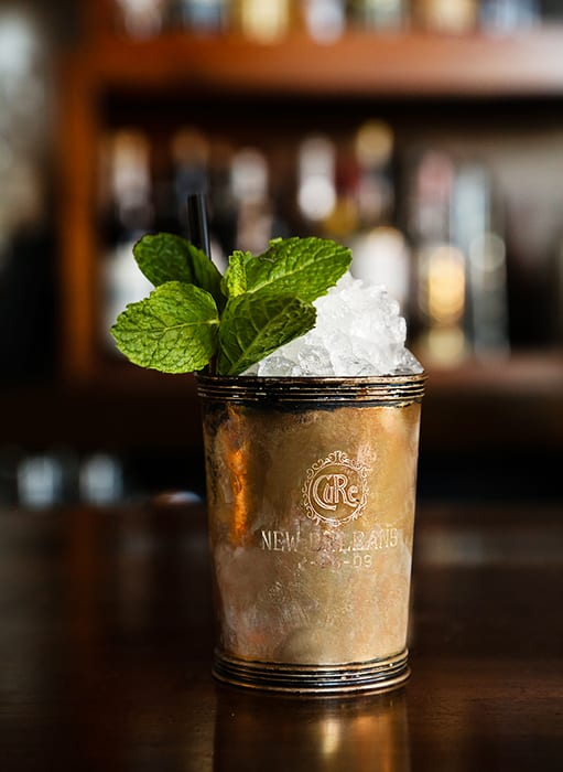 St. Regis Julep The New Orleans way to celebrate Derby Day. | Photo by Randy Schmidt.