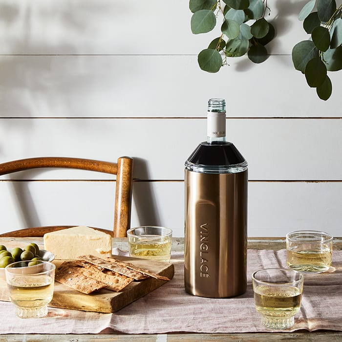 Vinglacé Wine Bottle Chiller. | $90, food52.com. | Photo by Rocky Luten.
