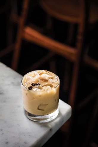 coffee milk cocktail