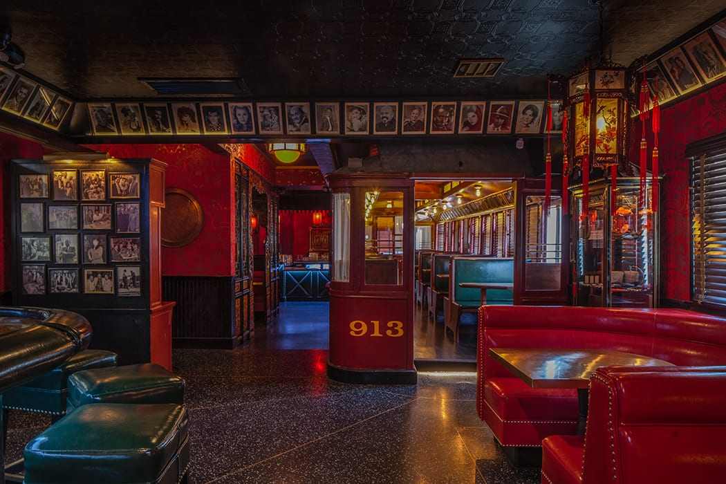 One of the most impressive transformations was the work Green accomplished on iconic train car that served as one of the rooms in the bar.