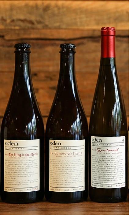 Eden Cider Cellar Trio. |  $54, edenciders.com