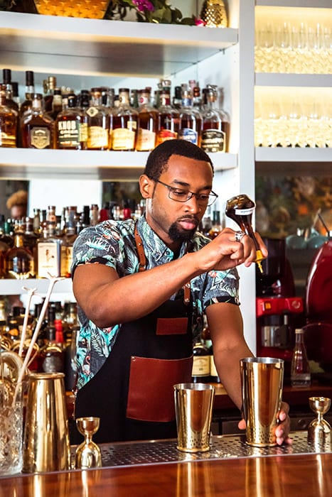 The bar is one of the first to serve expertly made classic cocktails in the islands.