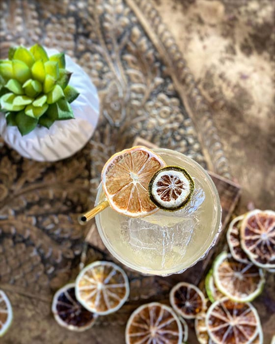 The Peat's Dragon cocktail combines scotch and mezcal with sherry and lime juice.