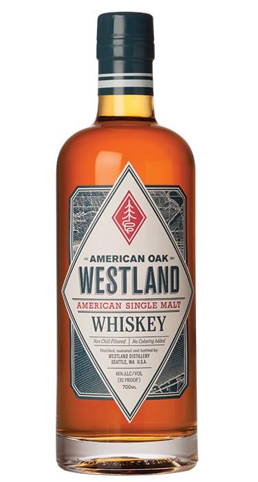 Westland American Oak Single Malt Whiskey. | $67, reservebar.com