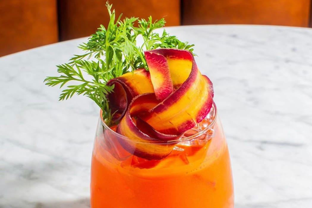 Booze-Free Carrot Spritz.   Photo courtesy of the Fat Radish.