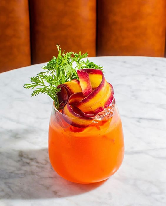 booze-free carrot spritz