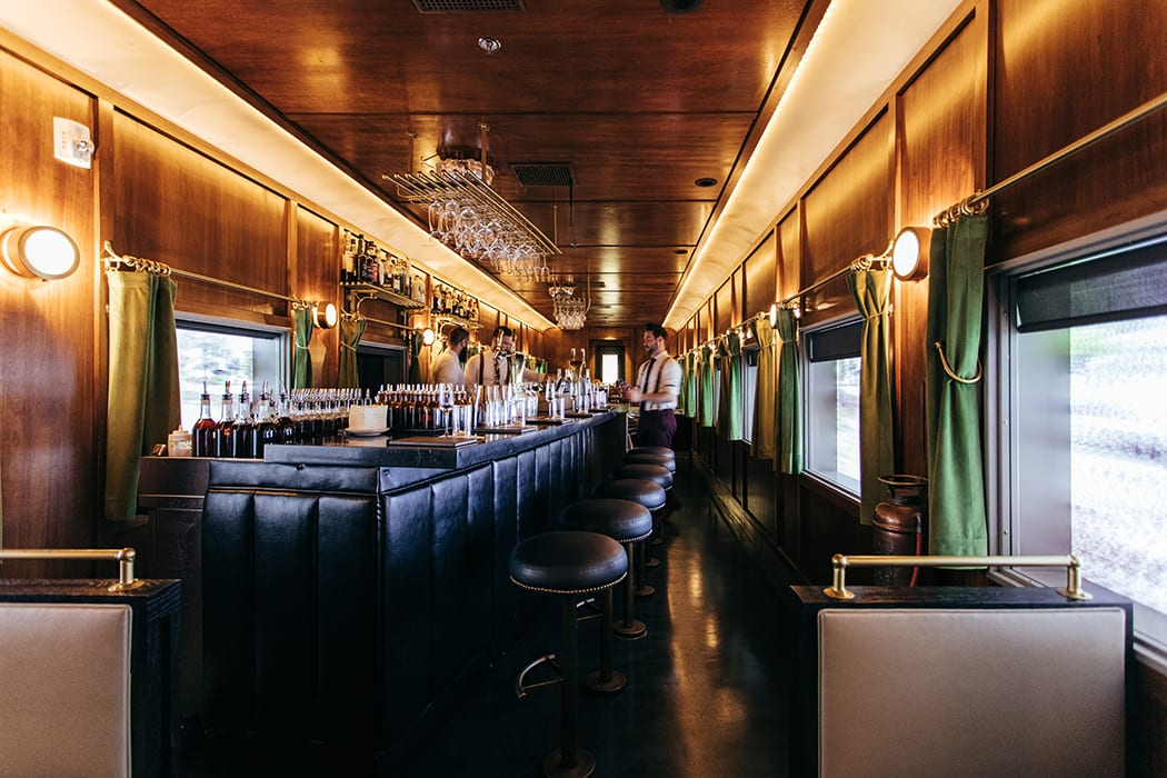 Platform 18 occupies a custom-built replica of a presidential Pullman train car.