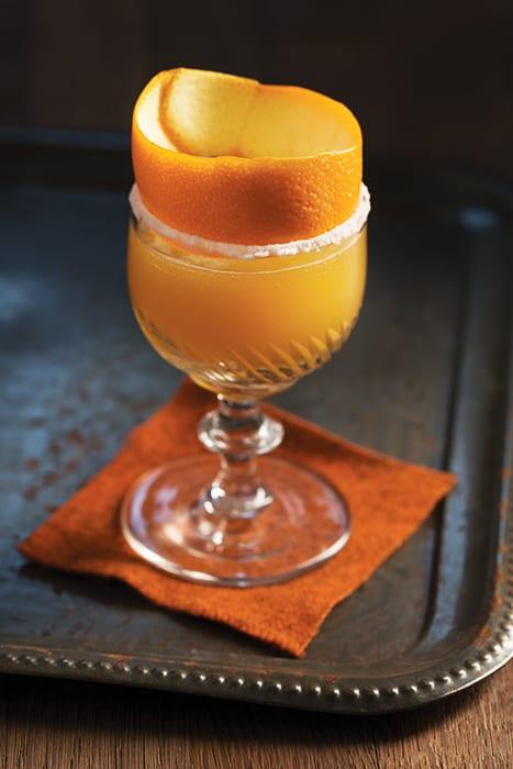 peach brandy crusta