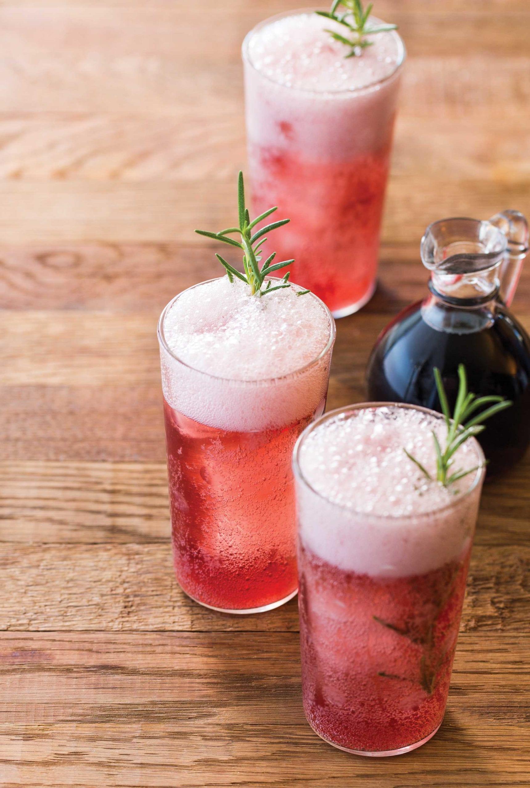 Concord Grape and Rosemary Soda